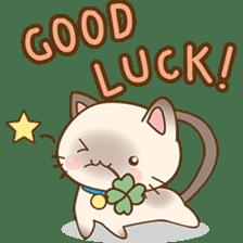 Funny Siamese kitten sticker #3221269