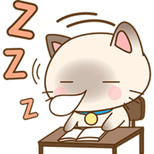 Funny Siamese kitten sticker #3221270