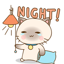 Funny Siamese kitten sticker #3221272