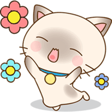 Funny Siamese kitten sticker #3221274