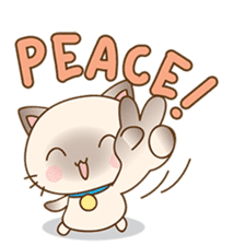 Funny Siamese kitten sticker #3221275