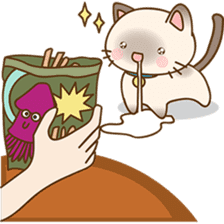 Funny Siamese kitten sticker #3221277