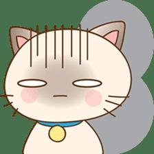 Funny Siamese kitten sticker #3221278