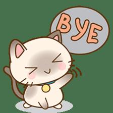 Funny Siamese kitten sticker #3221279