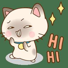 Funny Siamese kitten sticker #3221280