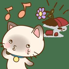 Funny Siamese kitten sticker #3221284