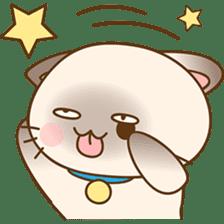 Funny Siamese kitten sticker #3221285