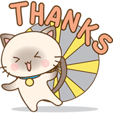 Funny Siamese kitten sticker #3221287