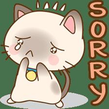 Funny Siamese kitten sticker #3221288