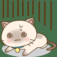 Funny Siamese kitten sticker #3221289