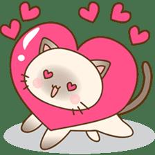 Funny Siamese kitten sticker #3221290