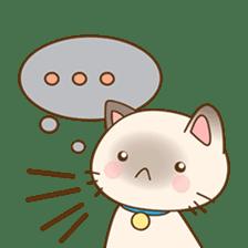 Funny Siamese kitten sticker #3221292