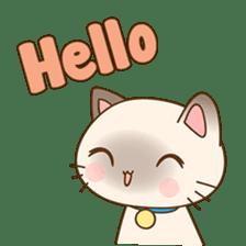 Funny Siamese kitten sticker #3221297
