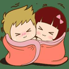 The sweet newlywed couple sticker #3221739