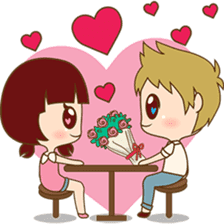 The sweet newlywed couple sticker #3221742