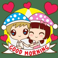 The sweet newlywed couple sticker #3221743