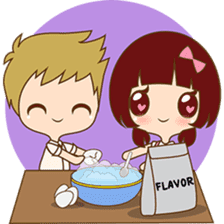 The sweet newlywed couple sticker #3221744