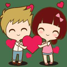The sweet newlywed couple sticker #3221746