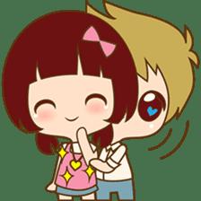 The sweet newlywed couple sticker #3221747