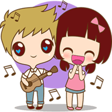 The sweet newlywed couple sticker #3221748