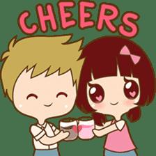 The sweet newlywed couple sticker #3221750