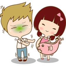 The sweet newlywed couple sticker #3221755