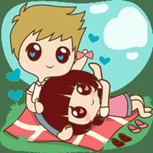 The sweet newlywed couple sticker #3221758
