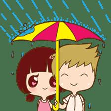 The sweet newlywed couple sticker #3221760