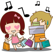 The sweet newlywed couple sticker #3221766