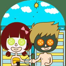 The sweet newlywed couple sticker #3221767