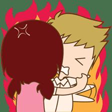 The sweet newlywed couple sticker #3221768