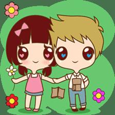 The sweet newlywed couple sticker #3221773