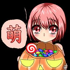 Adorable girl (Halloween articles)