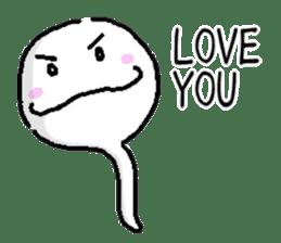 Tadpole(albino) Stickers  English ver sticker #3229262