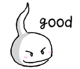 Tadpole(albino) Stickers  English ver sticker #3229265