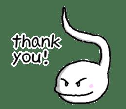 Tadpole(albino) Stickers  English ver sticker #3229271