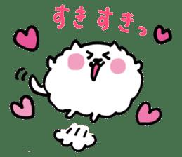 Kawaii! Fluffy cat sticker #3231311