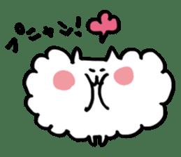Kawaii! Fluffy cat sticker #3231334
