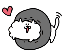 Kawaii! Fluffy cat sticker #3231335