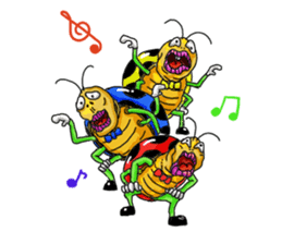 Full funny Insects sticker #3235820