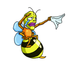 Full funny Insects sticker #3235847