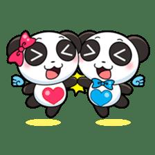 Cute Valentine Panda Couple sticker #3237140