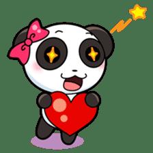 Cute Valentine Panda Couple sticker #3237144
