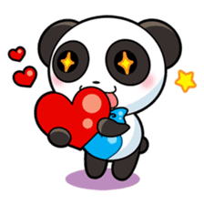 Cute Valentine Panda Couple sticker #3237145