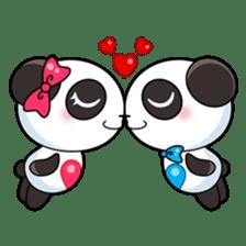 Cute Valentine Panda Couple sticker #3237146