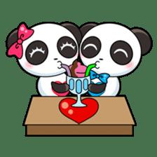 Cute Valentine Panda Couple sticker #3237147