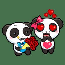 Cute Valentine Panda Couple sticker #3237148