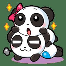 Cute Valentine Panda Couple sticker #3237150