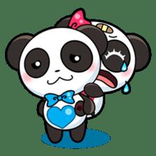 Cute Valentine Panda Couple sticker #3237157
