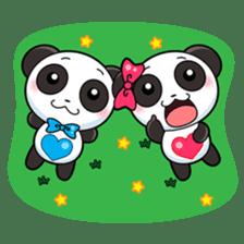 Cute Valentine Panda Couple sticker #3237158